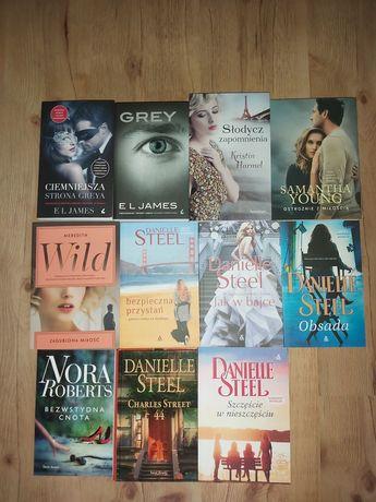 Książki: Kuchnie świata i romanse (Danielle Steel)