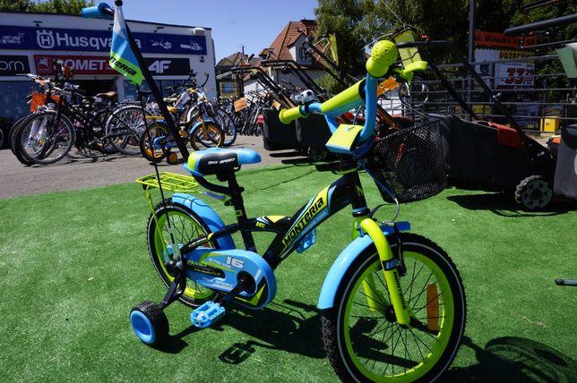 Rower dzieciący KID BMX 16 +Prowadnik Koszyk i boczne kółka 3LATA GWAR