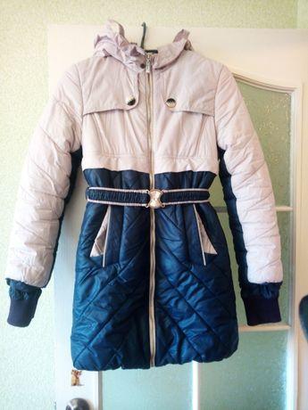 Пуховик куртка на девочку рост 152-160