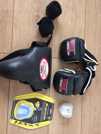 Rekawice bokserskie mma ochraniacz na szczęke i krocze