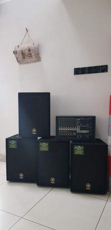 Mixer Mikser Yamaha EMX312sc, 4 głośniki Yamaha AX10 Zamiana