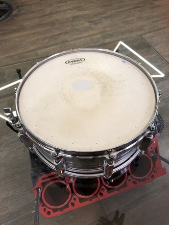 """Yamaha SD-755MD 5.5""""X14"""" Vintage1980s Chrome Over Steel Snare Drum MIJ"""