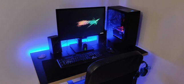 Zestaw komputerowy gaming Ryzen 5 1600 RX580 16GB SSD 140Hz RGB LED