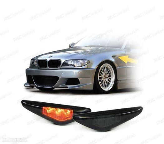 PISCAS LATERAIS LED / BMW E46 COUPE / 03-06 PRETOS