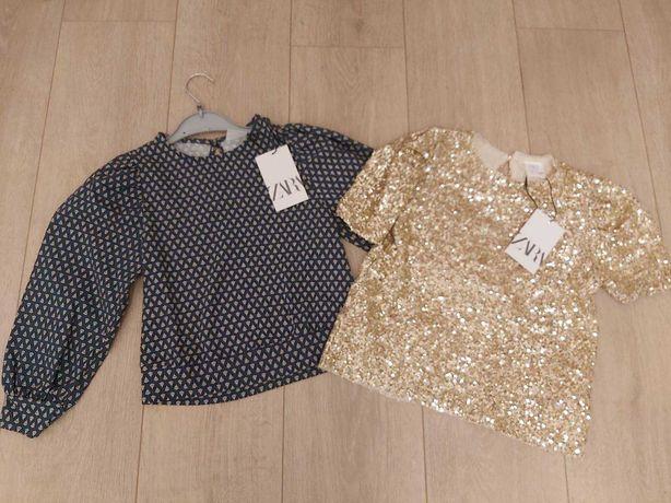 Фирменные крутые нарядная кофта блуза футболка Zara 122-128 р новые