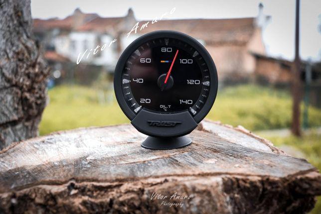 Manometro Temperatura de Oleo 74mm RGB com 7 Cores para Carro|NOVO