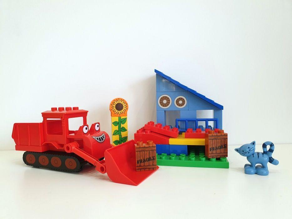 Lego DUPLO 3596 bob budowniczy - spychacz, warsztat, kot, klocki Szczecin - image 1