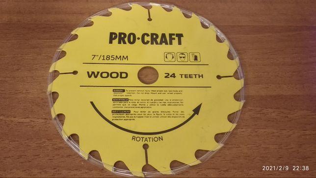 Пильный диск по дереву Procraft 185 мм