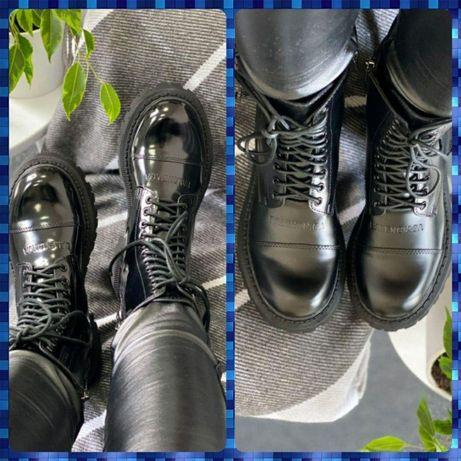 Кожаные ботинки ∎ BALENCIAGA TRACTOR LACE UP ∎ Премиум качество∎глянц