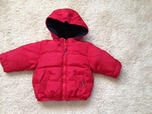 baby GAP puchowa ciepła kurtka z kapturem 12-18 m.