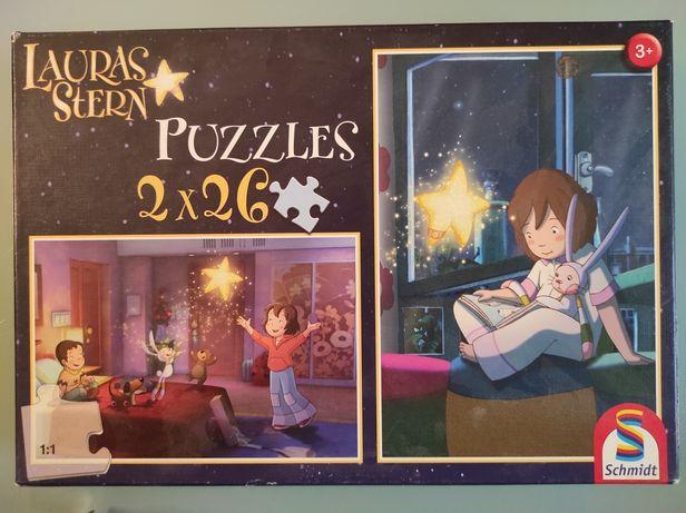 Puzzle 2x26 części, Gwiazdka Laury