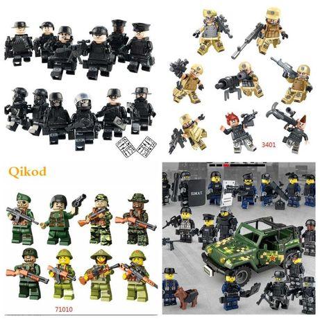 Фигурки, человечки, спецназ, машина, солдаты, военные  лего