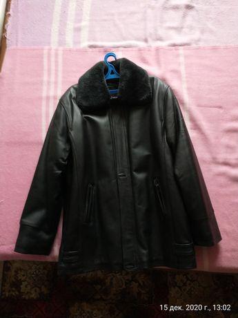 Куртка зимняя кожа, 52-54