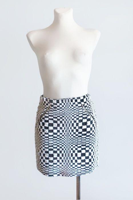 UNIKAT Designerska spódniczka op-art S 36 Barczewo - image 1
