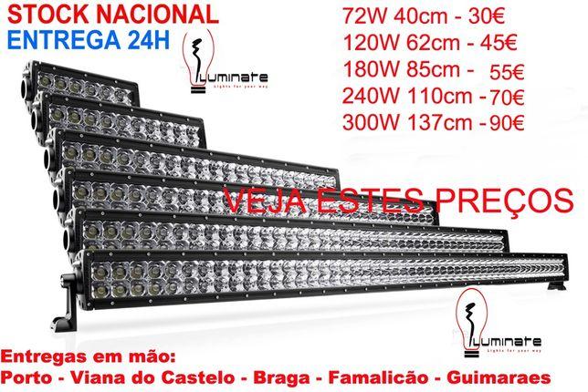 Farol Barra LED 18w 48w 72w 120w 180w 240w 288w 300w - Entrega Imediat