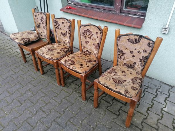 Krzesło komplet krzesła z pełnego drewna bukowego siedzisko oparcie