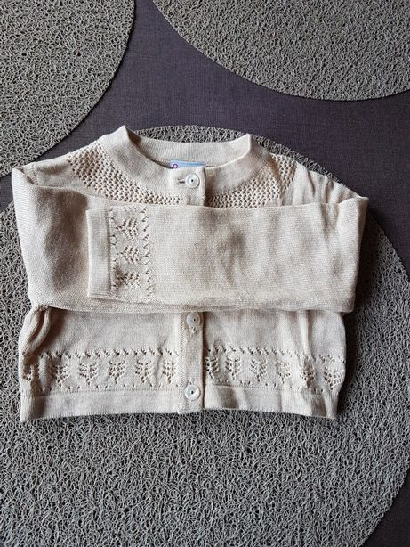 Śliczne beżowe bolerko sweterek cocordillo r.92