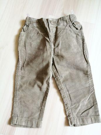 Spodnie sztruksy C&A 80