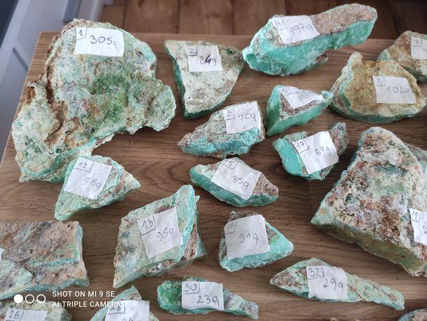 Chryzopraz, minerał, Polski szmaragd, chryzokola