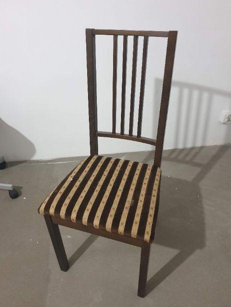 Krzesła 4szt - kolor brązowy stan dobry