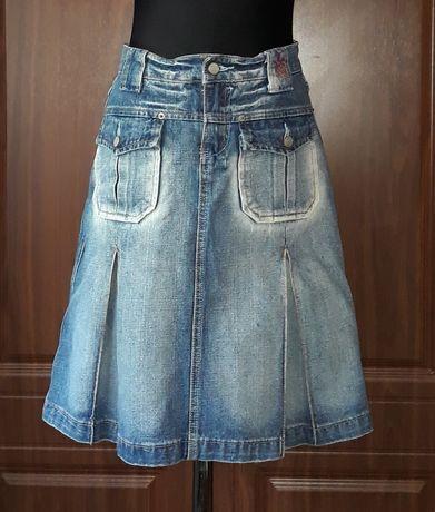 Спідниця джинсова зі складами