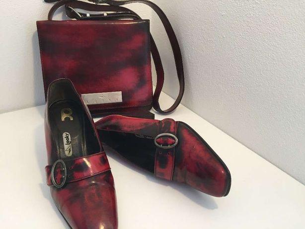 Conjunto sapatos e carteira