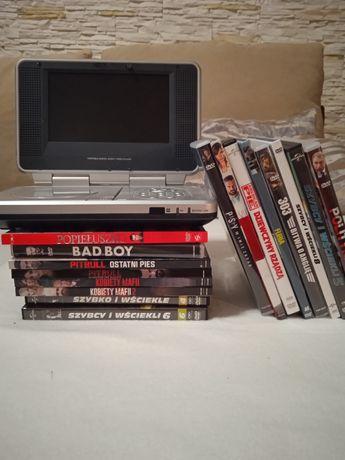 Przenosne DVD + 19 filmow