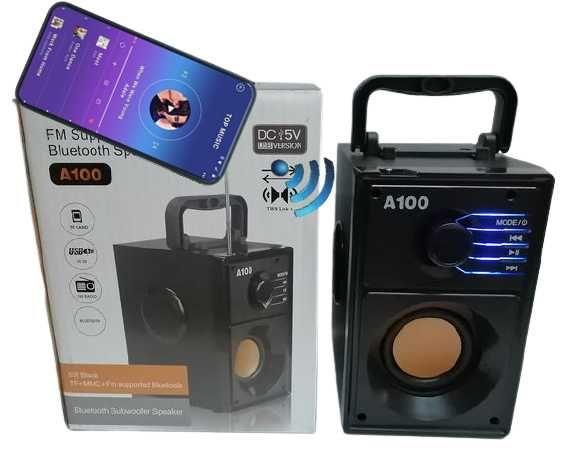 Głośnik Boombox A100 Bluetooth Radio FM SD USB MP3 Akumulator