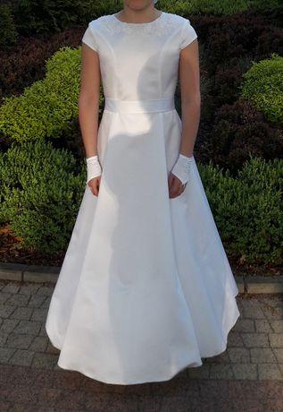 Sukienka komunijna 146-15~jak nowa~