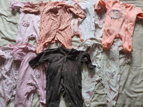 Pajacyki śpiochy piżamki do spania next cool Club 56 62 paka