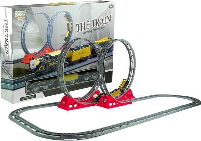 Szybka Kolejka z Wagonami Tory Pętle 136 cm Jeździ Darmowa wysyłka