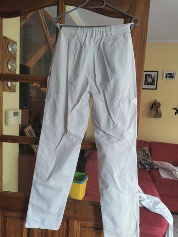 Spodnie robocze męskie białe rozmiar 34