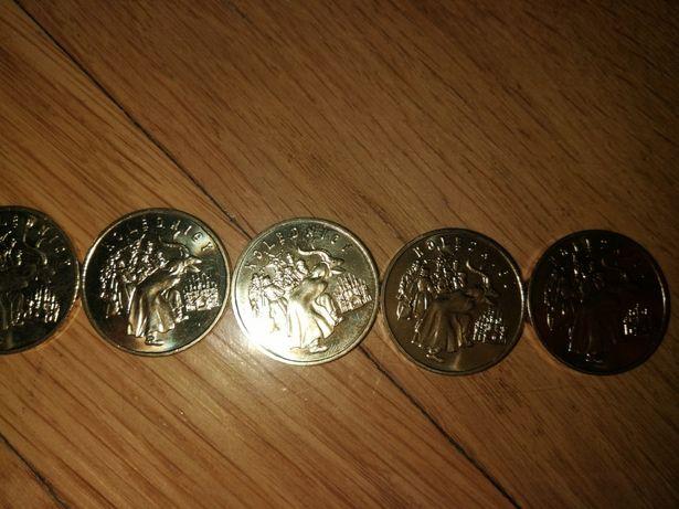 Monety okolicznościowe 2zl 5szt Kolędnicy 2001