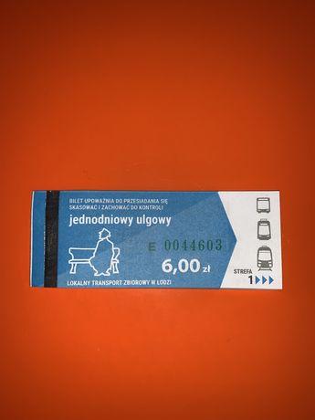 19 Biletow lodzkich jednodniowych ulgowych