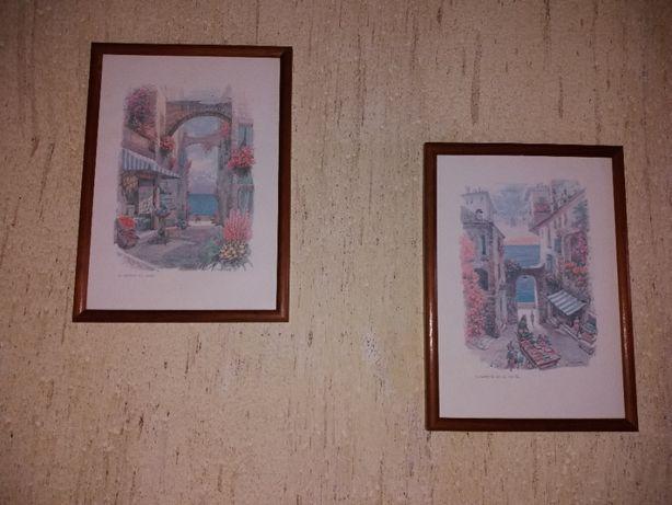 Conjunto de 2 quadros pintado pelo artista j koehler