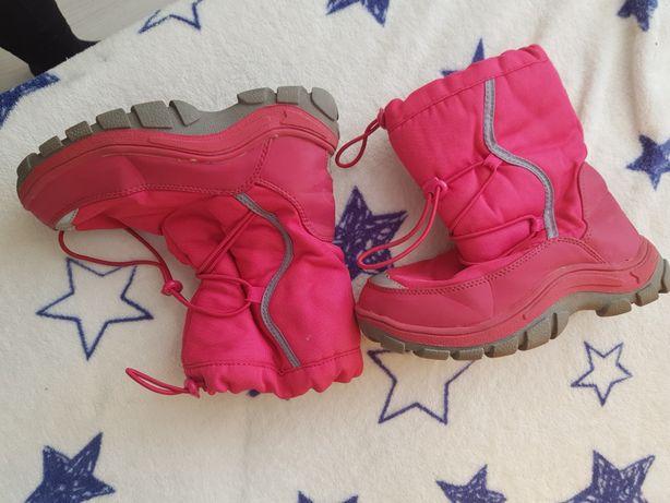 Buty na zimę, kozaki dla dziewczynki ocieplane rozmiar 31