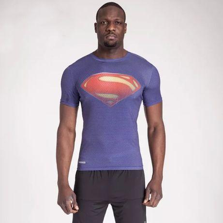 Мужская спортивная компрессионная футболка Superman (Супемэн), Marvel