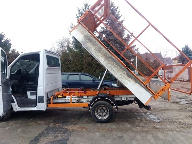 Transport ziemi piasku kamienia itp wywóz śmieci bus wywrotka