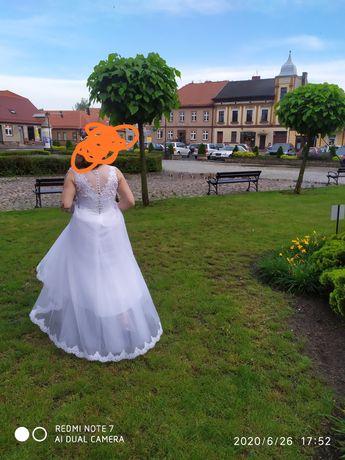 Suknia ślubna róż.36-38