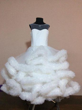 Белое платье біле плаття снежинка пышное святкове выпускное Облако