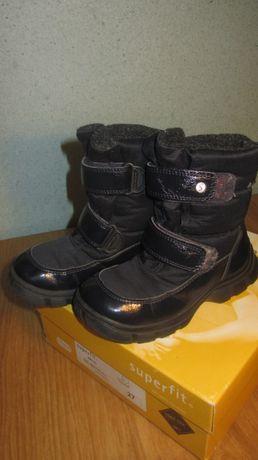 Чобітки зимові хлопчачі чоботи Суперфіт, Леджеро сапожки для мальчика