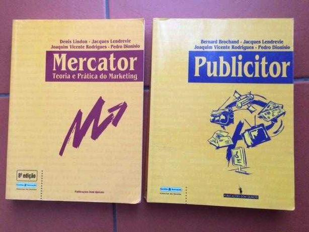 Mercator e Publicitor (marketing e publicidade) + Oferta de 3 livros