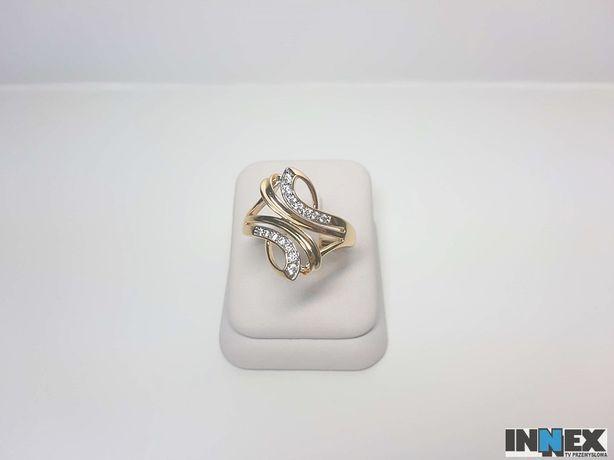 Nowy pozłacany pierścionek 544J R27