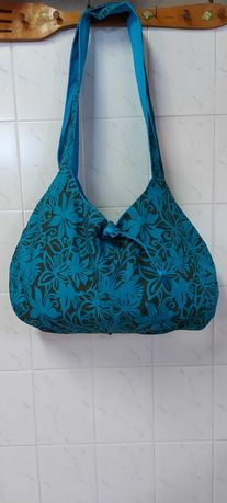 Bolsas de praia azul - vários padrões