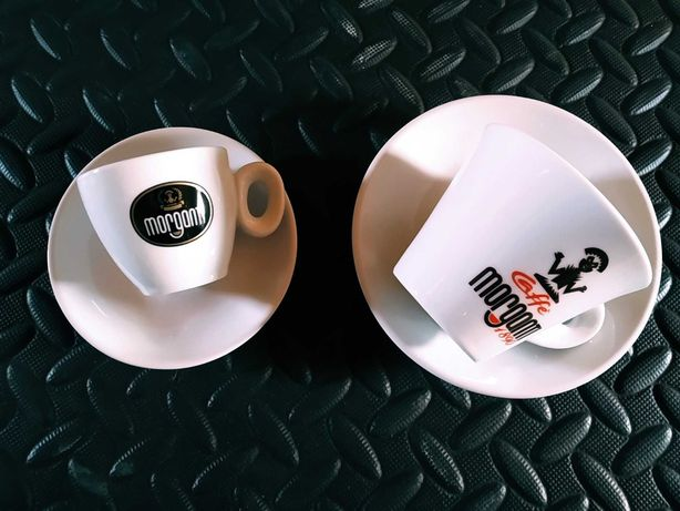 Nowy komplet filiżanek MORGANTI 6 x cappuccino i 6 x espresso ze spod