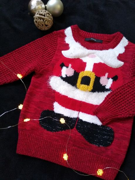 Świąteczny sweterek 1,5-2 lata