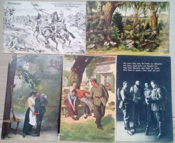 pocztówki z I wojny światowej 9 szt.