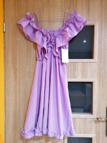 Sukienka liliowa s/m