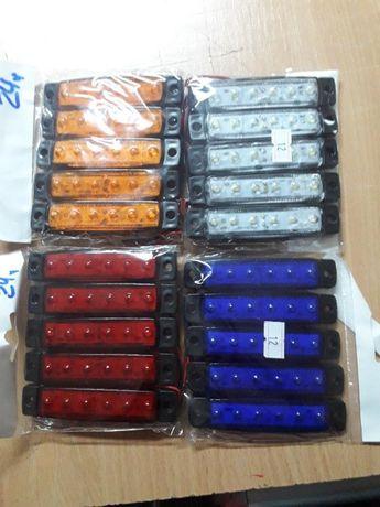 Габаритные огни для грузовиков Полоска 6 диодов,Фонарь габаритный 0175