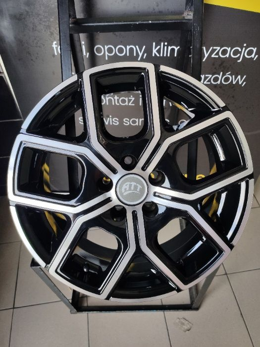 Felgi Aluminiowe ATT V16P 16'' NOWE!!! 5x100 Audi, Seat, Skoda, VW Kozy - image 1
